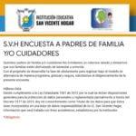 ENCUESTA A PADRES DE FAMILIA Y/O CUIDADORES